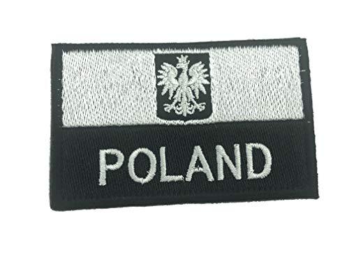 Polen Polnisch Polska Gedämpft Schwarz Kamm Flagge Taktisch Gestickte Airsoft Klettverschluss-Flecken Patch