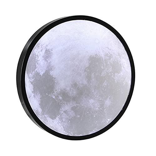 SMBYQ Lámpara de Espejo de Luna LED Luz - Espejo de Luna montado en Pared, Espejo de vanidad Recargable USB, lámpara de Escritorio en Forma de Luna,20cm