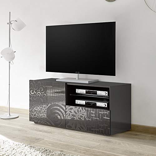 M-012 Petit Meuble TV 120 cm Gris laqué Design ELMA 2