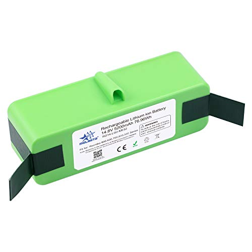 MELASTA 14.8V 5200mAh Lithium ion Battery Replacement for Roomba 980 690 960 985 695 680 685 652 665 670 655...