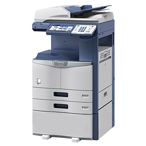 Toshiba E-Studio 356 Tabloid-Size Black and White Laser Multifunction Copier - 11x17, 35ppm, Copy, Print, Scan, Network, Duplex, USB, 2 Trays, Cabinet