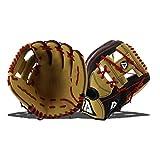 Akadema Torino Series Baseball Infielders Gloves, Black/Sandstone/Red, Left Hand