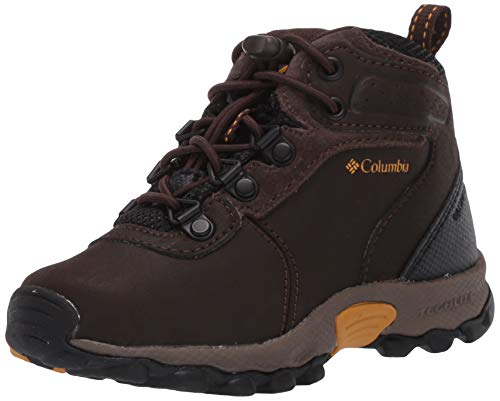 Columbia Youth Newton Ridge, Botas de Senderismo para Niños, Marrón (Cordovan, Golden Yellow), 23 EU
