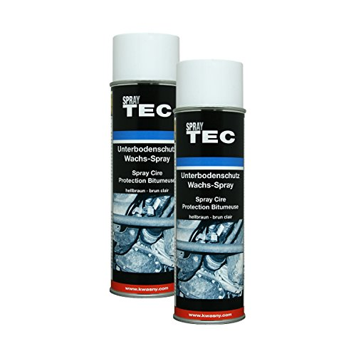 Kwasny 2X 235 501 Auto-K Spray TEC Unterbodenschutz-Wachs Hellbraun 500ml
