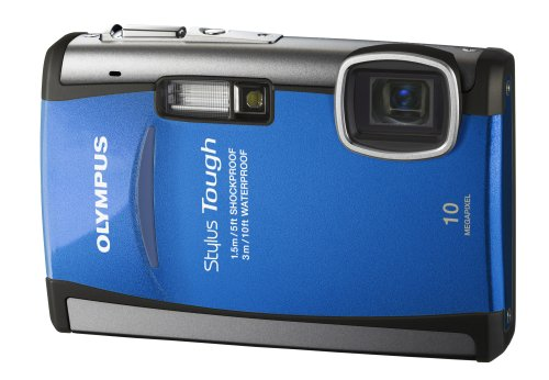 Olympus Stylus Tough-6000 10 MP Waterproof Digital Camera with 3.6x Wide Angle Optical Dual Image Stabilized Zoom and 2.7-Inch LCD (Blue) (Discontinued by Manufacturer)