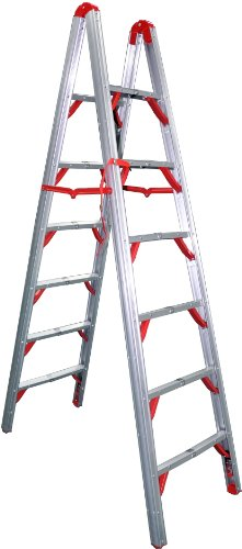 Telesteps 700FLD OSHA Compliant 7 ft Double sided folding step ladder (STIK)