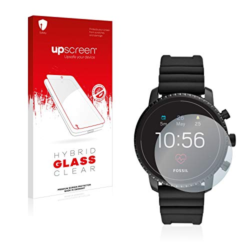 upscreen Hybrid Glass Panzerglas Schutzfolie kompatibel mit Fossil Q Explorist HR (4.Gen) 9H Panzerglas-Folie