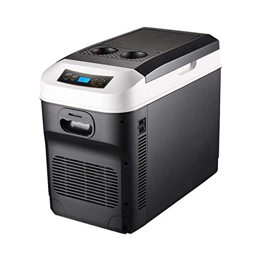 Mini nevera, refrigerador del coche, refrigerador del coche, refrigerador del refrigerador y calentador de 24V / 12V / 220-240 (28L) que acampa portable Frigorífico de larga distancia de conducción Vi