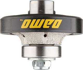 DAMO 3/8 inch Demi Bullnose Half Bullnose Roundover Coarse Diamond Hand Profiler Router Bit Profile Wheel with 5/8-11 Thread for Granite Concrete Marble Countertop Edge