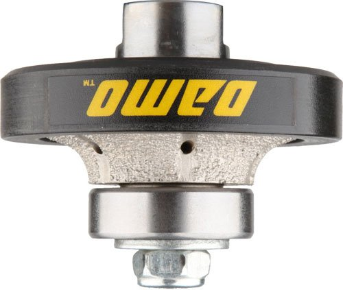 DAMO 3/8 inch Demi Bullnose Half Bullnose Roundover Coarse Diamond Hand Profiler Router Bit Profile Wheel with 5/8-11 Thread for Granite Concrete Marble Countertop Edge