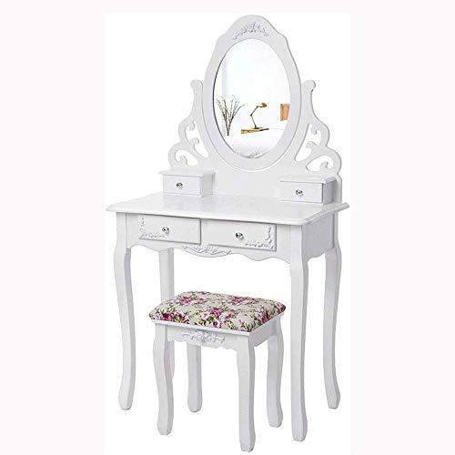 For Sale! ZXCVB European Dressing Table Bedroom Dressing Table Small Apartment Dressing Table Simple...