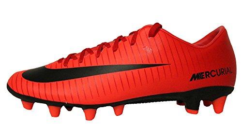 Nike Herren MercurialX Victory Vi Df Ic Fußballschuhe, Mehrfarbig (University Red/Black-Bright Cr), 41 EU