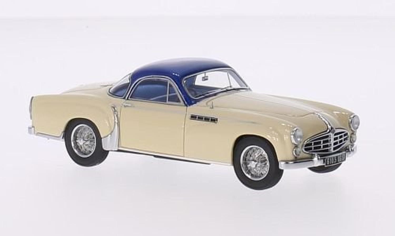 Delahaye 235 Chapron Coupe, beige metallic-blau, 1953, Modellauto, Fertigmodell, Matrix 1 43