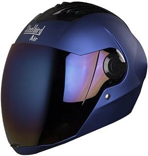 Steelbird SBA-2 Matt Full Face Helmet with Iridium Blue Visor (Blue, 580 mm)