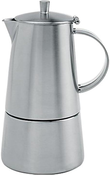 Caffettiera italiana milano in acciaio spazzolato cristel-c10tm C10TML