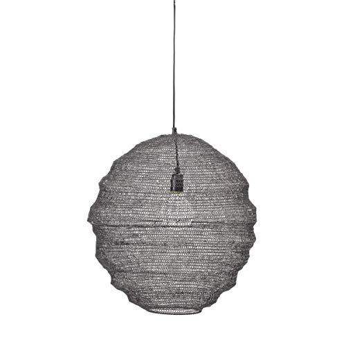 Bloomingville - Rio - Pendelleuchte, Deckenlampe, Lampe - aus derbem Metallgeflecht - (ØxH): 50 x 50 cm