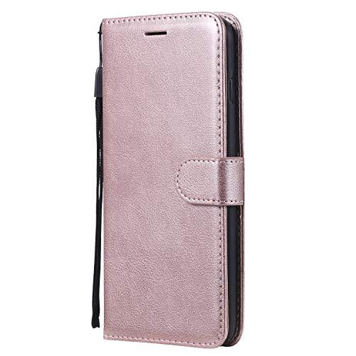 Hülle für iPhone 8 Plus/7 Plus Hülle Handyhülle [Standfunktion] [Kartenfach] [Magnetverschluss] Tasche Etui Schutzhülle lederhülle klapphülle für Apple iPhone 8Plus/7Plus - JEKT050035 Rosa Gold