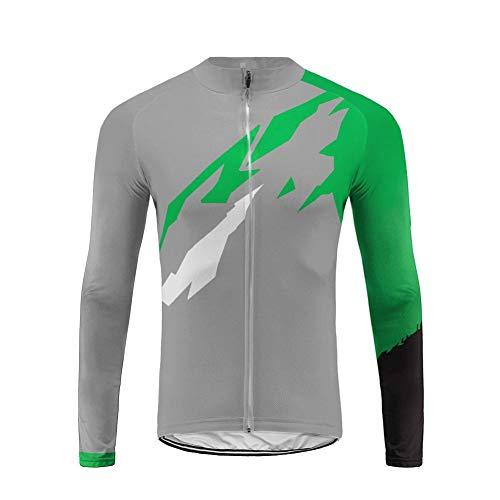 Uglyfrog Maillot vélo Homme Maillot de vélo Printemps Automne Respirant Maillot de Cyclisme Vélo à Manches Longues Hommes Running de Cyclisme à Manches Longues T-Shirt Fonctionnel