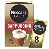 Nescafe Gold Cappuccino Instant Coffee, 8 x 15.5g