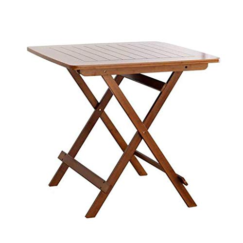 Klaptafel tuintafel tafel en eenvoudige huishoudelijke bewegende bamboe kleine vierkante tabel 4 mensen essen bijzettafel bamboe (kleur: bruin) bruin