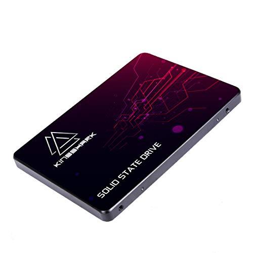KingShark SSD 120GB SATA 2.5' Unidad de Estado sólido Interna Unidad de Disco Duro de Alto Rendimiento para computadora portátil de Escritorio SATA III 6Gb / s 7MM Height SSD (120GB, 2.5''SATA3)