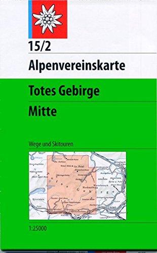 Totes Gebirge, Mitte: Wege und Skitouren - 1:25.000 (Alpenvereinskarten)