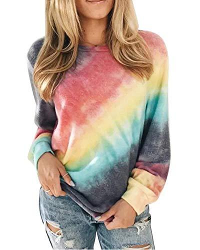ABINGOO Damen Langarm Sweatshirt Pullover Casual Kapuzenpullover Lose Tunika Bluse Oberteile Oversized Top