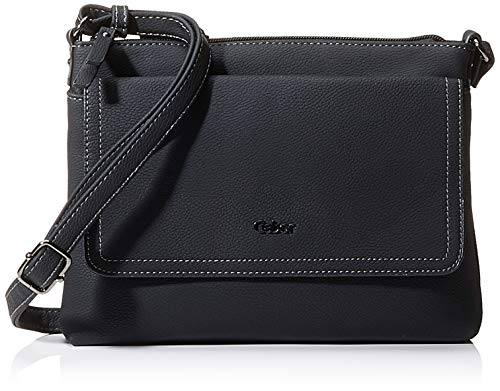 Gabor bags DINA Damen Umhängetasche M, black, 25,5x4x18,5