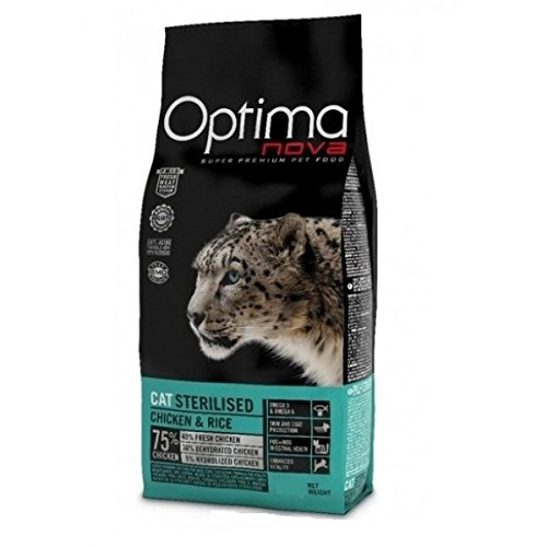 optimanova Sterilised gato pollo y arroz 400 gr