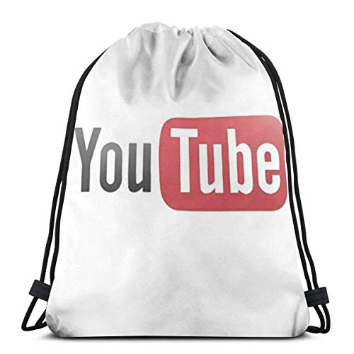 Colorful products Youtube 3D Print Drawstring Backpack Rucksack Shoulder Bags Gym Bag For Adult 16.9
