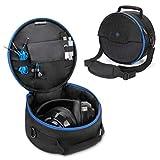 ENHANCE Gaming Headset Tasche für kabelgeb&ene und kabellose Bluetooth Wireless Kopfhörer gepolsterter Schutz mit Schultergurt und robustem Tragegriff - Travel Friendly Esports Design - Blau