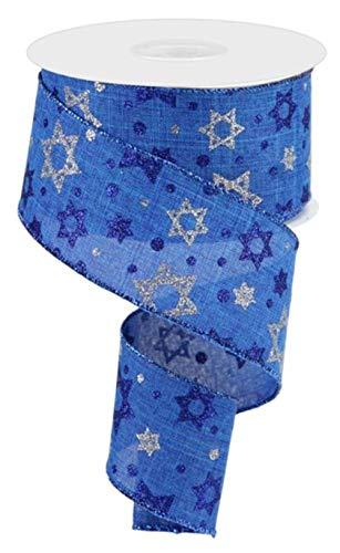 Craig Bachman 2.5' Star of David Royal Ribbon: Royal Blue (10 Yards) - Hanukkah Ribbon