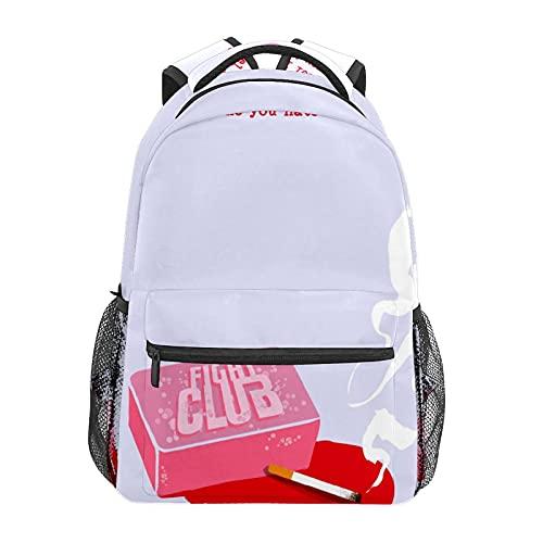 Fight Club Movie ArtJapanese animación mochila portátil bolsa de viaje durable impermeable estudiante; mochila moderna