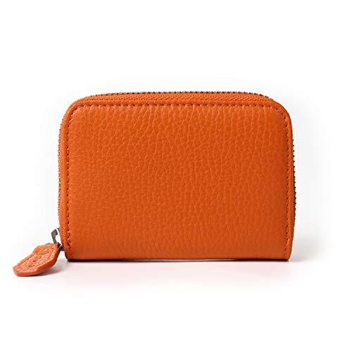 MURA カードケース クレジットカードケース スキミング防止 イタリアンレザー (オレンジ)
