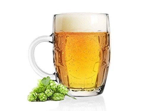 Sables & Reflets 3 Verres à bière Choper, Chope de bière, Traditionnelle 500 ML