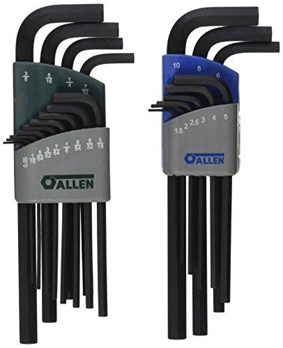 Allen 56609G 22-Key SAE/Metric Long Arm Hex Key Set