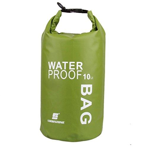 yeah67886leicht wasserdicht Sport Dry Storage Bag Pouch für Bootfahren Kajak Rafting (10L grün)