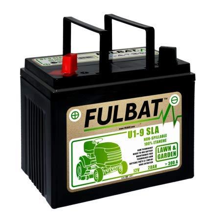 GreenCutter AG 0200246 Fulbat, Batteria per Trattorino al Gel, Sigillata, Pre-Attivata, 12V 28Ah, Polo Positivo Sinistra