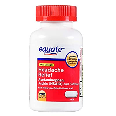Compare to Excedrin Extra Strength Caplets Active Ingredients Contains active ingredients acetaminophen, aspirin (NSAID) & caffeine Relieves minor aches and pains due to headache, muscular aches, cold, arthritis, toothache or menstrual cramps 200 cap...