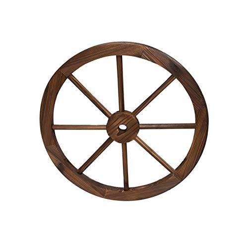 Rueda de Madera de Carro Estilo Vintage con un diámetro de