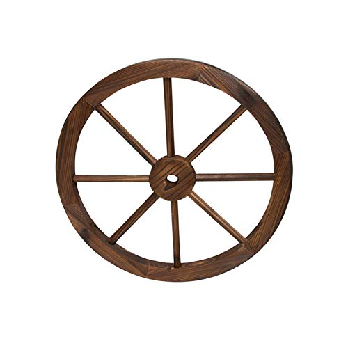 Rueda de Madera de Carro Estilo Vintage con un diámetro de 30 centímetros I Modelo: 0965081 I Rueda Decorativa I Rueda de Carro Madera Maciza I Ruedas de Carro Antiguas I