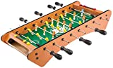 AJH Tabletop Foosball Table - Portátil Mini Table Football Soccer Game Set Keeper para Adultos y niños Futbolín Soccer Tabletops Soccer - Mano recreativa