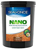 SEAL-ONCE NANO Penetrating Wood Sealer & Stain - 5 Gallon. Water-based, Low-VOC waterproofer for fences,...