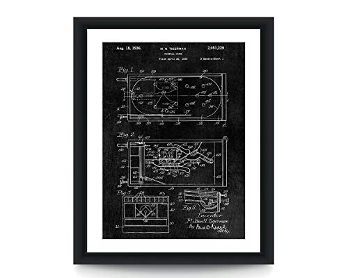 Pin Ball Machine Patent Poster Game Room Wall Art Patent Poster Gamer Gift Patent Art Poster Retro Speelgoed