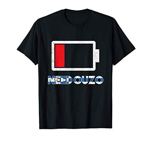 Need Ouzo Schnaps Griechenland Alkohol Trink T-Shirt