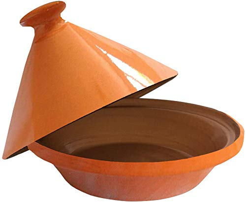 Raphael Rozen Tagine Cooking Pot Original Handmade Clay 10 Quart Cooking Dish Family Size Recipe Book