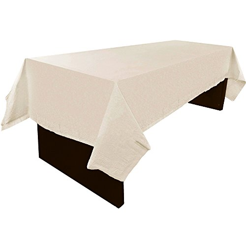 JAM Paper Rectangular Paper Table Cover - Ivory - 54 x 108 in - Sold Individually