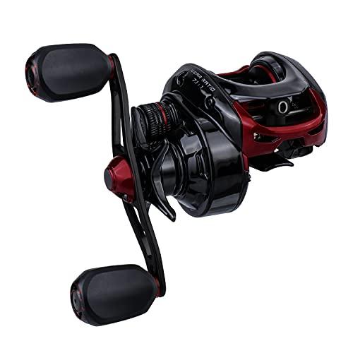RUNCL Baitcasting Reel Merced, Baitcaster - 10+1 Stainless Steel Ball Bearings, 7.1:1 Gear Ratio, Sealed Drag System, Magnetic Brake, Lengthen Ergonomic Handle - Bass Casting Fishing Reel