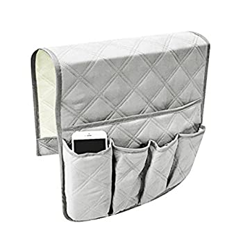 Waterproof Sofa Couch Chair Armrest Organizer Sofa Arm Caddy Tray Tidy Hanging Storage Bag Table Cabinet Pocket for TV Remote Control,Phone,Books,Drinks,Snacks,Glasses,Magazines Holder Space Saver Bag