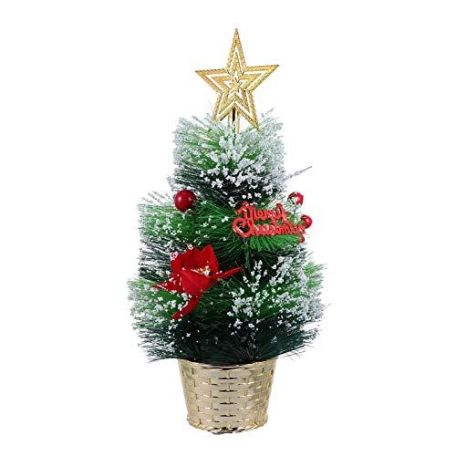 ABOOFAN Mini Árbol de Navidad con Adorno de Estrella Árbol de Pino en Miniatura con Canasta Árbol de Navidad de Mesa para Hacer Manualidades Exhibiendo Decoración